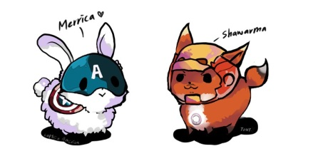 Animal Stark and Cap